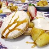 Manzana al Horno con Shortbread y Helado