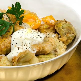 Alcachofas Rebozadas con Huevo