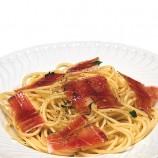 Espaguettis con Jamón Serrano