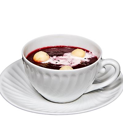 Crema de Remolacha con Manzana en Taza