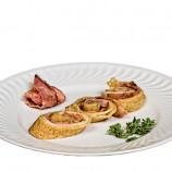 Crepes con Bacon y Queso Fundido