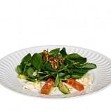Ensalada de Canonigos, Nueces y Mozzarella