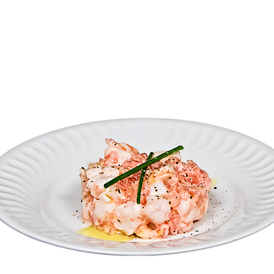 Ensaladita de Tomate y Langostinos