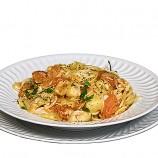 Espaguettis con Tomate y Alcachofas