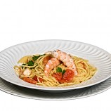 Espaguettis con Tomate y Langostinos