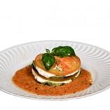 Milhojas de Berenjenas, Tomate y Mozzarella