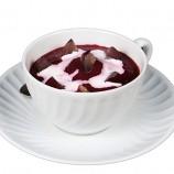 Crema de Remolacha, Manzana y Tomate con Uvas y Nata