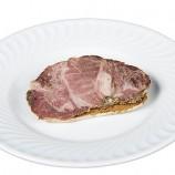 Tostadita con Carne Mechada y Crema de Ajo
